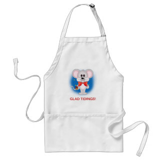 Christmas Mouse with Custom Text Adult Apron