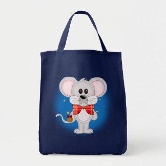 Christmas Mouse with Custom Text Canvas Bag