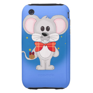 Christmas Mouse with Custom Text Tough iPhone 3 Cover