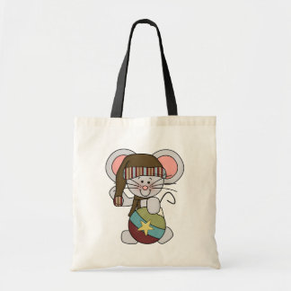 Christmas Mouse With Ornament Tote Bags
