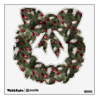 Christmas Mouse: Wreath Wall Decal