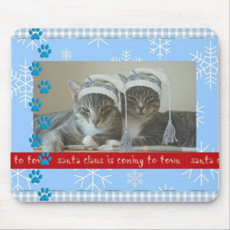 Christmas Mousepad with two cats