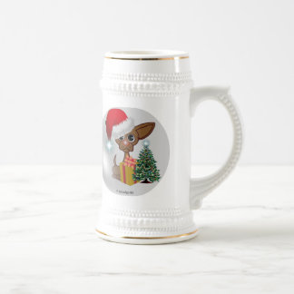 Christmas Mousey Dog Beer Stein