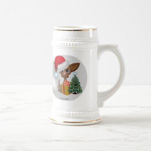 Christmas Mousey Dog Coffee Mug