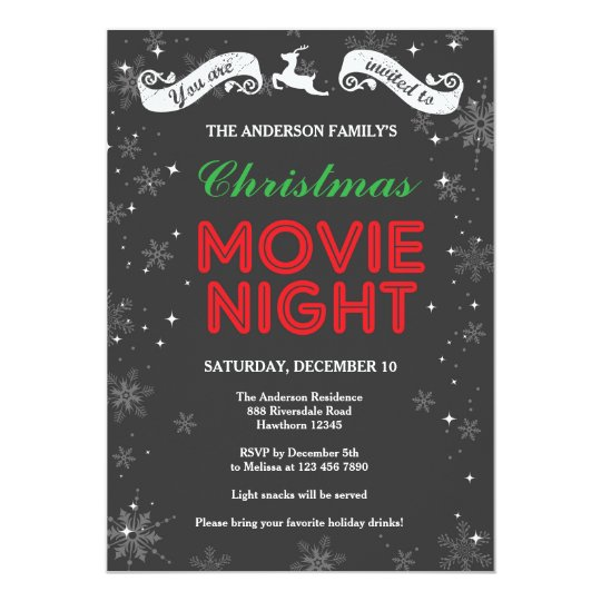 Kids Movie Night Invitation