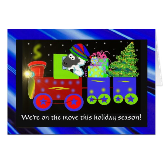 Christmas moving announcement cards template