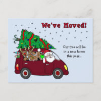 Christmas Moving Announcement postcards