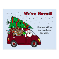 Christmas Moving Announcement Postcards at Zazzle
