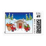 Christmas moving postage stamp