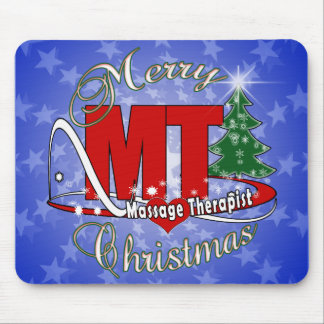 CHRISTMAS MT  Massage Therapist Mouse Pad