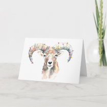 Christmas mufflon card