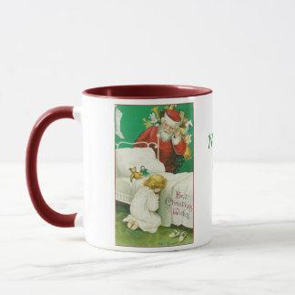 Christmas Mug, Santa and Child,Vintage Mug