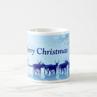 Christmas Mug - Santa's Sleigh and Reindeer