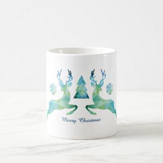 Christmas mug with abstract geometric reindeer