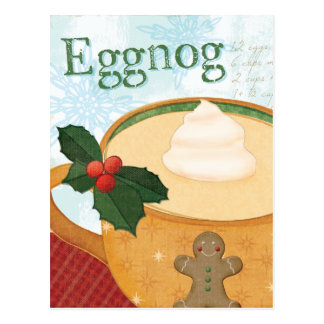 Christmas Mug with Eggnog Postcard