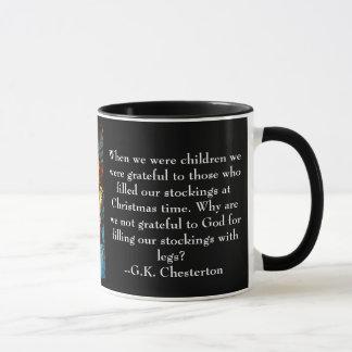 Christmas Mug with G.K. Chesterton quote
