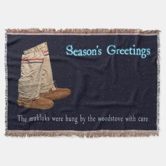 Christmas Mukluks Throw