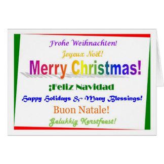 Christmas - Multilingual Greeting Card