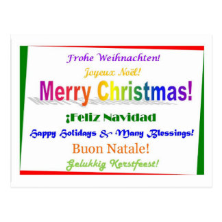 Christmas - Multilingual Postcard