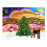 Christmas Music 2 - Airedale (stand) Postcards