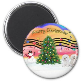 Christmas Music 2 - Bichon Frise (two) Magnet