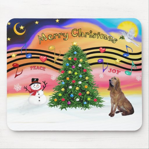 Christmas Music 2 - Bloodhound Mouse Mats