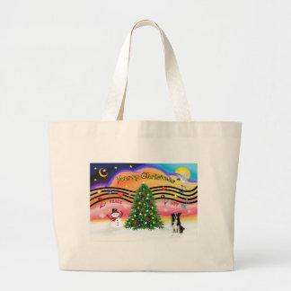 Christmas Music 2 - Border Collie Jumbo Tote Bag