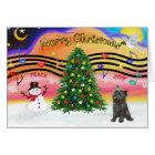 Christmas Music 2 - Cairn (brindle 21) Card