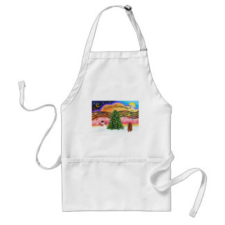 Christmas Music 2 - Cavalier (Ruby) Adult Apron