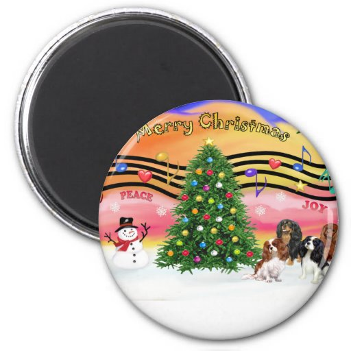 Christmas Music 2 - Cavaliers (four) 2 Inch Round Magnet