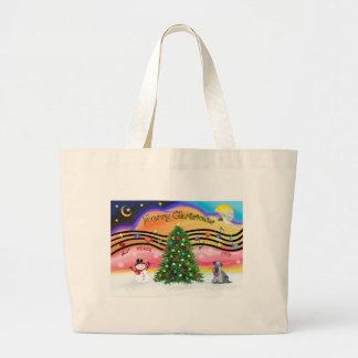 Christmas Music 2 - Cesky Terrier (gray) Tote Bag