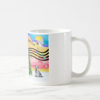 Christmas Music 2 - Cesky Terrier (gray) Mugs