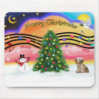 Christmas Music 2 - Cesky Terrier (light coffee) Mouse Pads