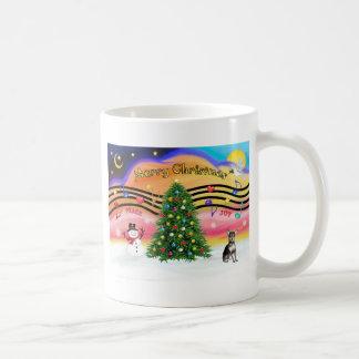 Christmas Music 2 - Chihuahua (blue & cream) Coffee Mug