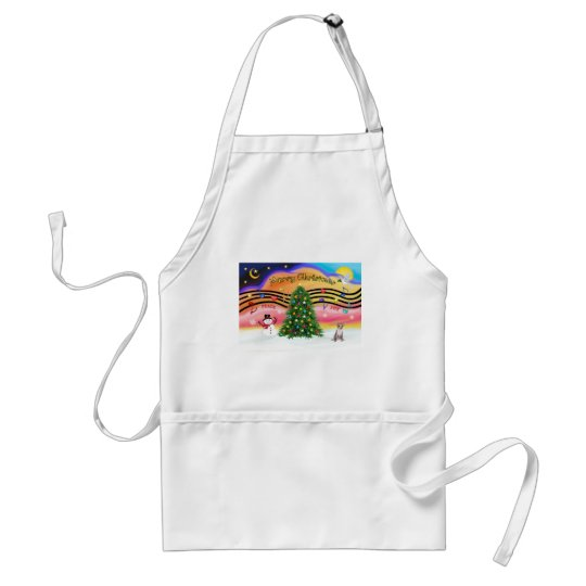 Christmas Music 2 - Chihuahua (fawn) Adult Apron