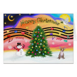 Christmas Music 2 - Chihuahua (fawn) Greeting Cards