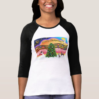 Christmas Music 2 - Chinese Crested (2 HL) T Shirts