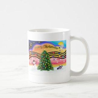 Christmas Music 2 - Chinese Crested (ld) Classic White Coffee Mug