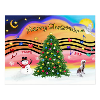 Christmas Music 2 - Chinese Crested Postcard