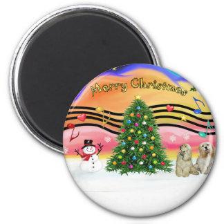 Christmas Music 2 - Cocker Spaniels (two Buff) Magnet