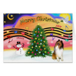 Christmas Music 2 - Collie 1 Greeting Card