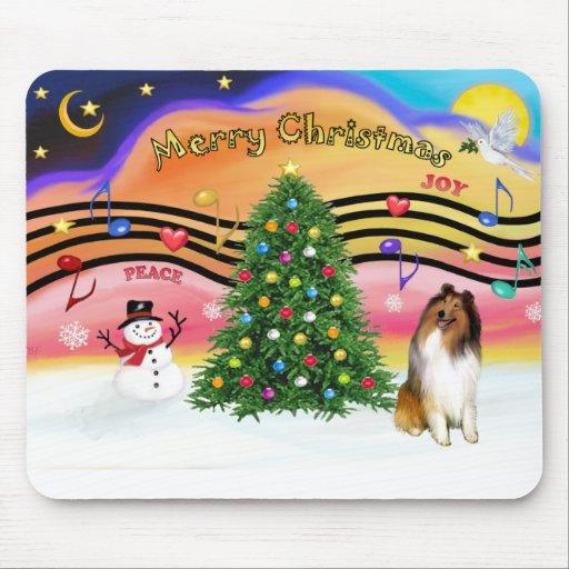 Christmas Music 2 - Collie 1 Mouse Pad