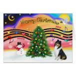 Christmas Music 2 - Collie (Tri) Greeting Card