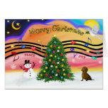 Christmas Music 2 - Dachshund (  ) Greeting Card