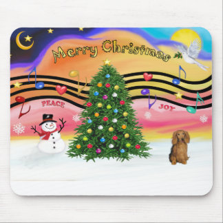 Christmas Music 2 - Dachshund (long haired sable) Mouse Pad