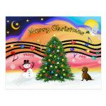 Christmas Music 2 - Dachshund (  ) Postcard
