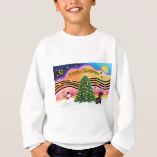 Christmas Music 2 - Dachshund (wire haired-brown) Sweatshirt