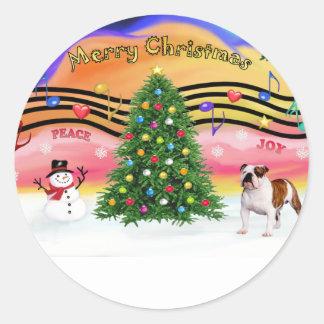 Christmas Music 2 - English Bulldog (5) Sticker