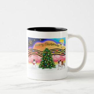 Christmas Music 2 - English Bulldog (5) Two-Tone Coffee Mug