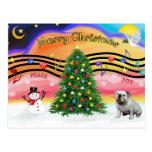 Christmas Music 2 - English Bulldog (9) Post Cards